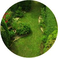 Zahrada v řadové zástavbě, Strašnice